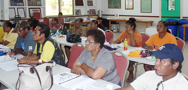 Palau participants get updated on what might be necessary as the climate changes.