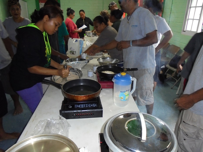 Participants tried out locally made breadfruit flour in many cooking recipes.